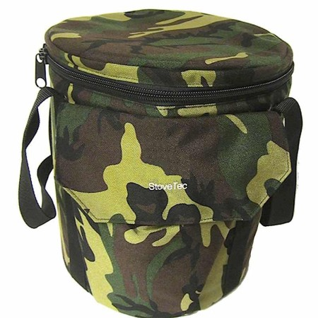Canvas Stove Bag (Woodland Camouflage)