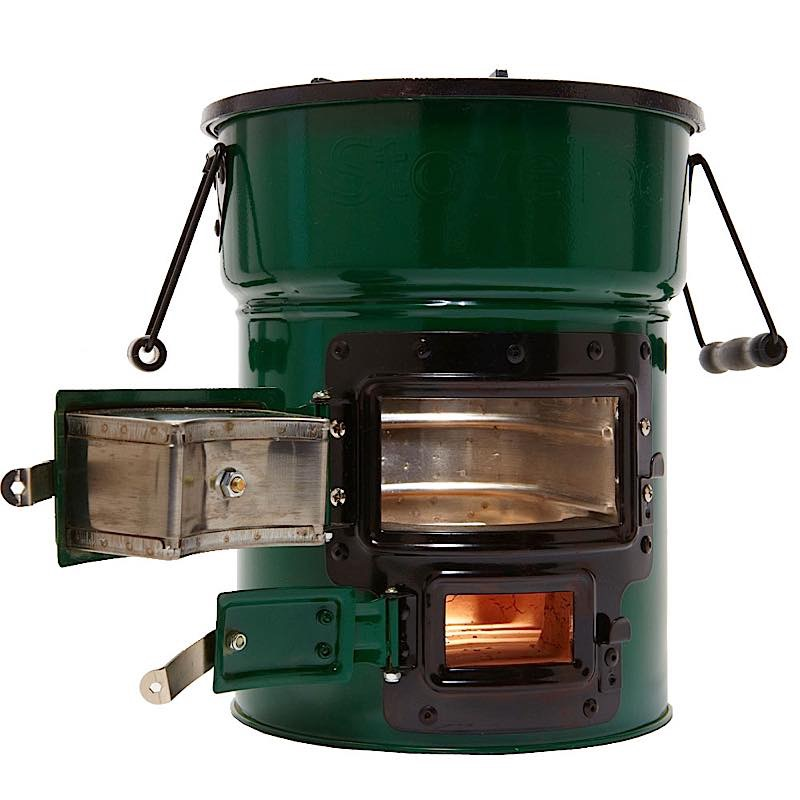 Big foot deluxe cookstove and super pot combo stovetec