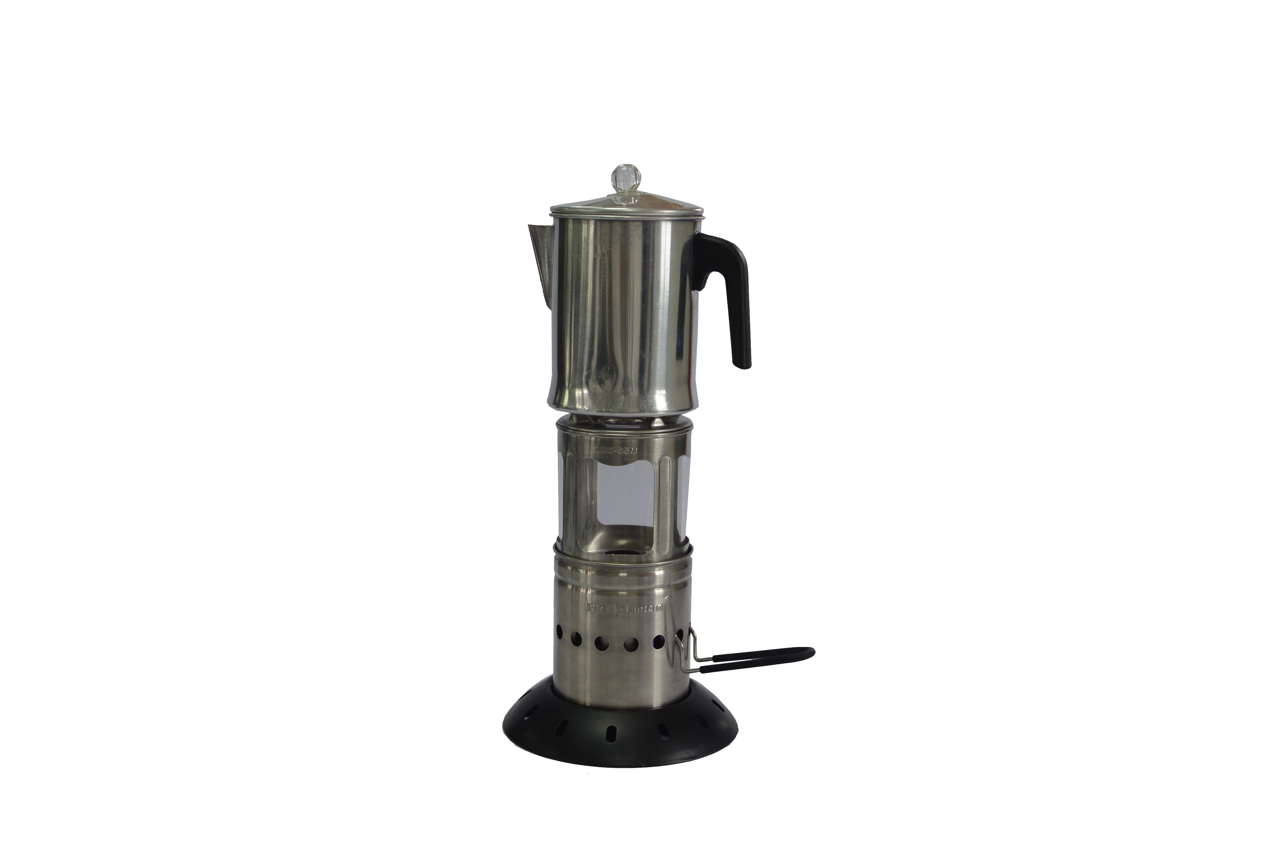 The Firefly Lantern with coffee pot